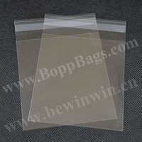 Card Bags for C6 Cards & Envelopes (11.7x19.5cm) with adhesive flap crystal clear for wholesale and retail & Free Shipping