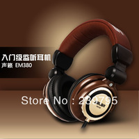 free shipping coffee DJ  headset stereo earphones monitor's earphones studio headset headband HD earphones with serial NO.