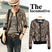 Free shipping+2013 spring and autumn fashion leopard print slim blazer suit women trend XB