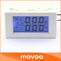 Voltage Current Monitor Meter DC 0-199.9V/100A LCD Voltmeter Ammeter 2in1 Volt Amp Meter AC 220V Power Supply #100137