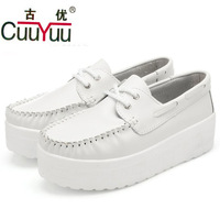 Chinese brands CuuYuu 2013 new women's fashion genuine leather shoes platform shoes comfortable elevator shoes