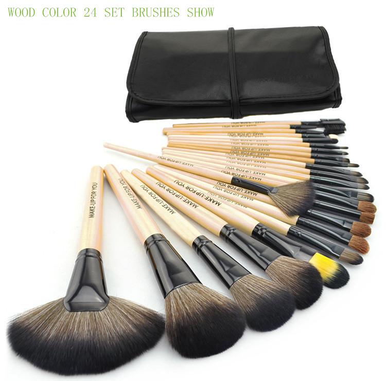 Brushes Makeup 24pcs set 3color Brushes set tools portable full Cosmetic brush tools makeup accessories(Chi