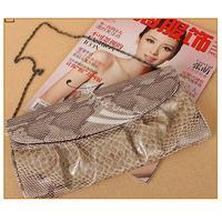 women's shoulder Clutch Evening bag fashion PU leather purses and handbag Snakeskin drop shipping 3515