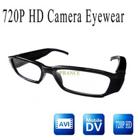 High Quality HD 720p Eyewear Video Camera  video recorders mini DVR Glasses  Invisible fashoinable lecture video