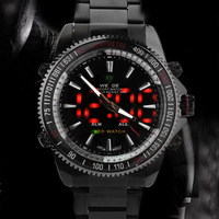 Free shipping,WEIDE 30M Waterproof,Dual movements Date Day Alarm Swiss Army luxury watches for men