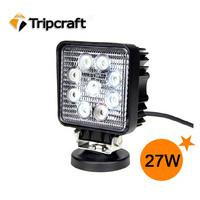 Heavy Duty Bright Led Worklight 27w Spot Light Off-road Lighting Trailor Atv Boat Indoor Outdoor Truck Bike light