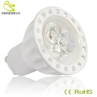 (4pcs/lot) High quality ceramice materail 3w led spot lamp AC/DC 12V 270LM 3 years warranty gu10 led spot bulb 3w