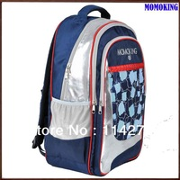 16inch nylon and shinny pu massage school backpack for children with bottle holder MKBP02M