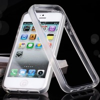 Slim Matt Transparent TPU bumper case cover for iPhone 5 5S free shipping