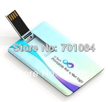Free logo printing 100pcs 2GB 4GB 8GB credit card USB flash drive Free Shipping cost(Hong Kong)