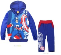 2013 the new children's clothing the avengers league captain America fleece hat virgin suit