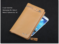 Leehoes wallet male long design wallet clutch male wallet genuine cowhide leather mobile phone bag