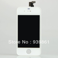 LCD Screen for iPhone 4G Display with Digitizer full set white  free shipping by DHL & EMS