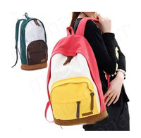 Drop shipping Free shipping School bags for teenagers Korean version Fashion college Canvas Backpack travel Shoulder Bag W1289