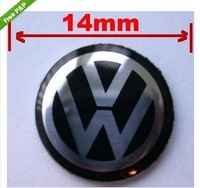Free Shipping 10 PCS  VW KEY FOB REMOTE BLACK SILVER BADGE VOLKSWAGEN GOLF BORA PASSAT SCIROCCO