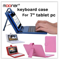 Colourful Portable USB Keyboard Faux Leather Case With Stylus Pen For 7 inch Tablet PC WDA0091