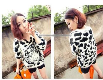 2013 зима новый корейский дикого тигра свободно долго- рукавами мохера 5415 свитера женщин свитер