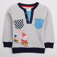 Free shipping NWT 5pcs/lot 18m~6Y boy cotton long sleeve warm Sweatshirts with peppa pig and george