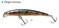 freeshipping 3 pcs targer minnow 90su weight 6.5g length  9cm lure 0 to 0.8m
