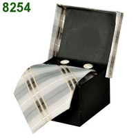 Hot selling 2014 New Wholesale Brand Ties for Men Dress Tie Set Tie+ Cufflink +Gift Box Fashion Necktie Bow Tie