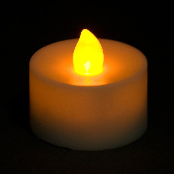 Free Shipping 12pcs/Lot AMBER LED Tea Light Flickering Battery Candles Votive Candles Flameless(China (Mainland))