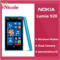 "Nokia Lumia 920 original  mobile phone  8MP GPS WIFI 3G&4G 4.5 "" Capacitive screen Refurbished SG post Free Shipping"