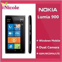 "original Nokia Lumia 900 unlocked cell phones 4.3""capacitive screen 16G ROM Windows Phone Refurbished   By SG post Free Shipping"