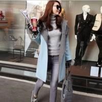 Woolen outerwear female type trench woolen top 2014 elegant slim wool coat  Design Free Shipping