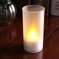 10PC Romantic Flameless Blow Shake Sound Sensor LED Candle Light Semitransparent Cup Tea Light Worldwide FreeShipping