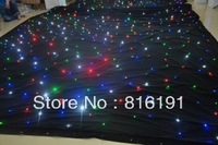 4m*6m led star curtain/colorful shining fireproof velvet disco light