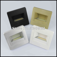 2013 Classic Design 4pcs/lot ABS 85-265V 1.5W COB LED Stair Lamp Recessed in Wall Light for 86 Box Ce Rohs Approved