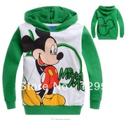 HOT new style !! best selling !Retail Spring Autumn Cartoon Boys kids Mickey Mcuse long sleeve Sweater children's clothing coat