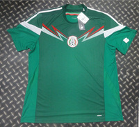 ^_^ 2014 world cup mexico home soccer jerseys football jerseys top thailand 3A+++ quality soccer uniform free shipping