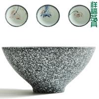 Hand painting ceramic cup kiln tea set tea cup puer black tea bamboo cup tc306