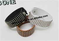 100pcs/lot  punk lovers fashion leather bracelet  rivet wide bracelet  fashion bracelets