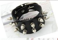 100pcs/lot punk double row rivet belt fashion  bracelet accessories   round cortical width lovers bracelet