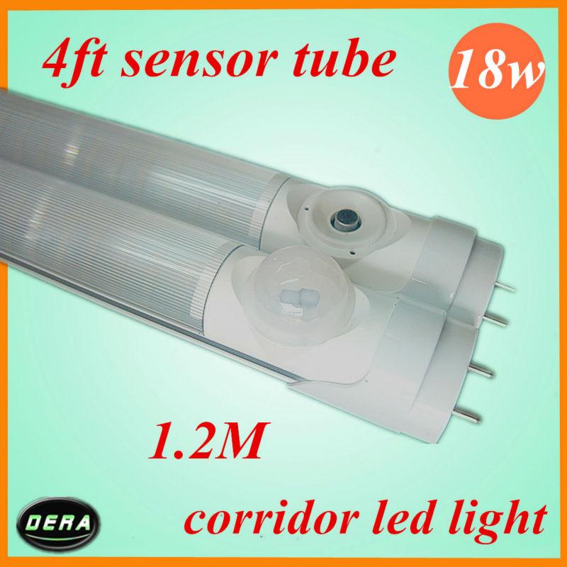 18W T8 Infrared led tube Body IR induction 1400-1600lm 1200mm led sensor tube light free shiping 100pcs(China (Mainland))