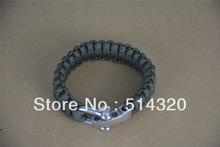 B043  Olive adjustable shackle 550 Paracord Survival Bracelet 21~23cm Wholesale(China (Mainland))