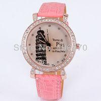 Free shipping 2013 New Hot Sale Luxury Brand Women's Watches Diamonds Rhinestone leather Watches Quartz Dress Wristwatches Drop