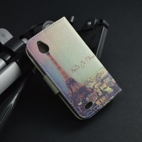 2014 new wallet Printing Leather Case Cover For HTC T328W Desire V / Desire X T328e,with stand function and card slots,flip