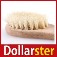 [Dollar Ster] Natural Wood Bristle Facial Cleaning Deeply Cleanse Complexion Brush With Handle 24 hours dispatch