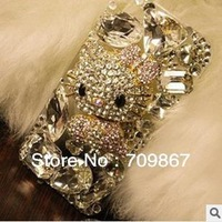 Super Amazing   High  Fashion   Hello  Kitty   Rhinestone  phone  case for iphone4/5  Free  Shipping