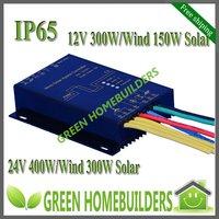 Free shipping 900W max Wind Solar Hybrid Light Controller,12V(400W wind+150W Solar) /24V(600W +300W solar) ,Water proof IP67