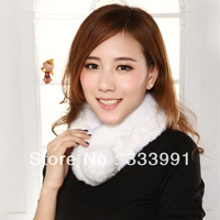 Autumn and winter thermal natural fur rabbit fur tube broadened thickening rabbit fur scarf muffler scarf female