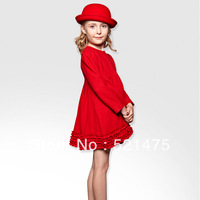 High Quality New Fashion 2013 Winter Girl Dresses For The New Year Christmas Dresses Princess Baby Girls Designer Dress FreeShip