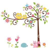 Lovely Owls&Tree Nursery Baby Room Wall sticker Wallpaper Art Vinyl Decor Decal