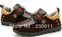 Autumn&Winter Scrub Leather Patchwork Cow Muscle Bottom Leisure Shoes