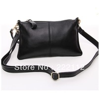 Women's Cowhide Genuine Leather Messenger Bag Designers Brand Envelope Day Clutch Handbags Small Shoulder Bags