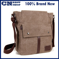 free shipping Brief 100% cotton canvas male sports  small shoulder messenger  brief mobile phone bag