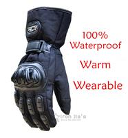 Motorcycle Gloves Winter Warm Waterproof Windproof Protective Gloves 100% Waterproof  Guantes Luvas